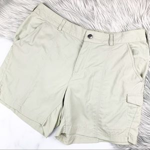 Columbia Shorts Outdoor Omni-Shade Green Hiking 12